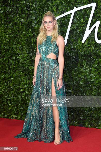 Chiara Ferragni arrives at The Fashion Awards 2019 held at Royal Albert Hall on December 02, 2019 in London, England.
