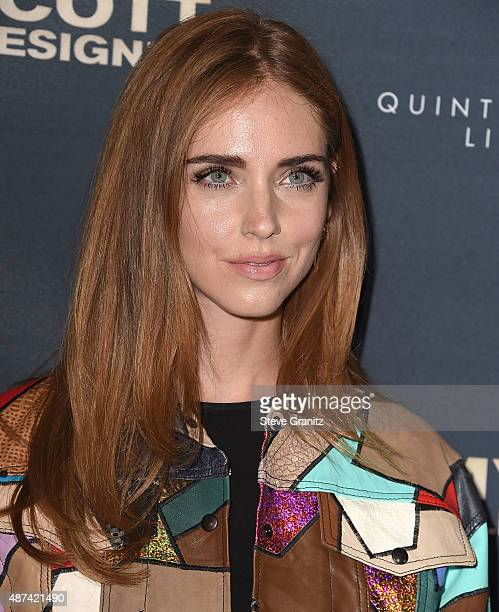 Chiara Ferragni arrives at the Premiere Of The Vladar Company's Jeremy Scott The People's Designer at TCL Chinese 6 Theatres on September 8 2015 in...