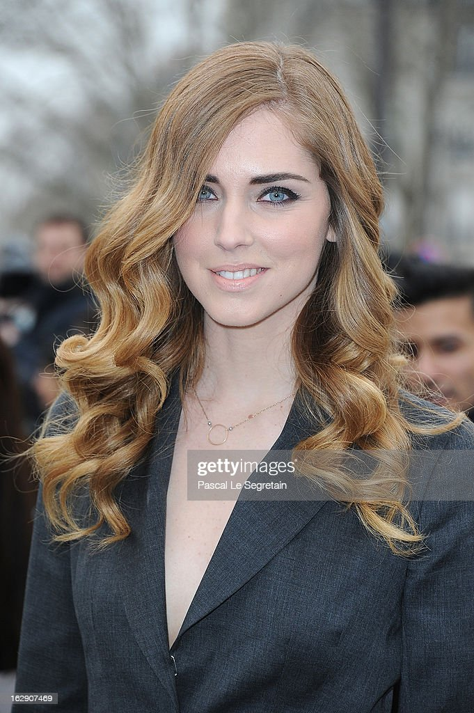 Chiara Ferragni arrives to attend the Christian Dior Fall/Winter 2013 Ready-to-Wear show as part of Paris Fashion Week on March 1, 2013 in Paris, France.