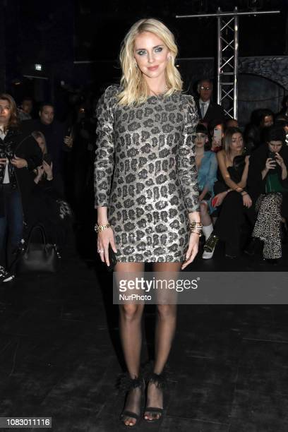 Chiara Ferragni attend the Special DJ SET with ASIA ARGENTO during the BLACKOUT PARTY organised by ANIYE BY FASHION SHOW