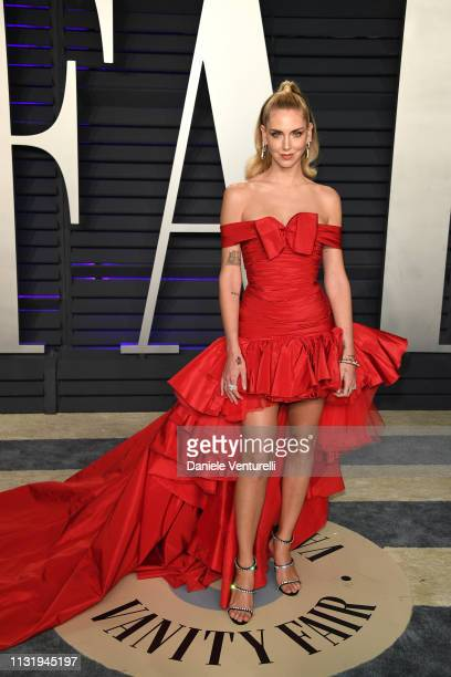 Chiara Ferragni attends 2019 Vanity Fair Oscar Party Hosted By Radhika Jones at Wallis Annenberg Center for the Performing Arts on February 24 2019...