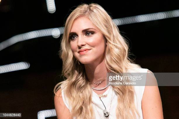 Chiara Ferragni attends E Poi C'e' Cattelan tv show at Teatro Parenti on October 2 2018 in Milan Italy