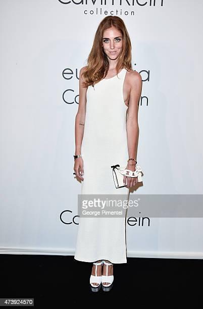 Chiara Ferragni attends IFP Calvin Klein Collection euphoria Calvin Klein celebrate Women in Film at the 68th Cannes Film Festival on May 18 2015 in...