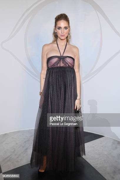 Chiara Ferragni attends Le Bal Surrealiste Dior during Haute Couture Spring Summer 2018 show as part of Paris Fashion Week on January 22 2018 in...