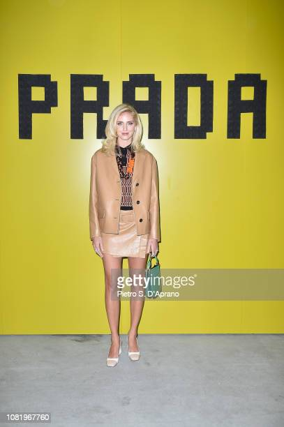 Chiara Ferragni attends Prada F/W19 Men's and Women's Fashion Show on January 13 2019 in Milan Italy