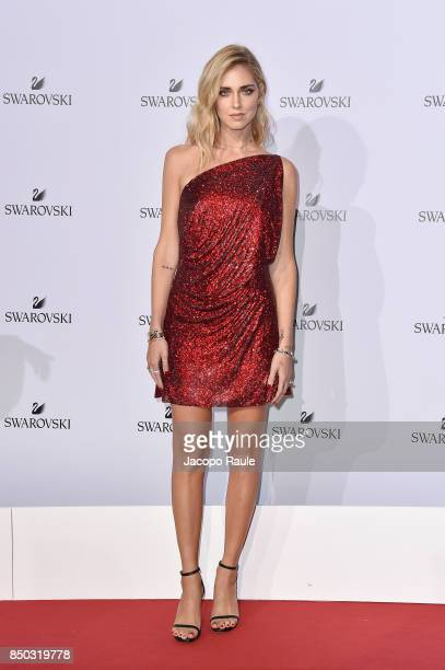 Chiara Ferragni attends Swarovski Crystal Wonderland Party on September 20 2017 in Milan Italy