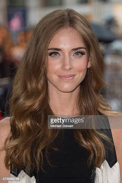 Chiara Ferragni attends the 2015 CFDA Fashion Awards Sightings at Alice Tully Hall at Lincoln Center on June 1 2015 in New York City