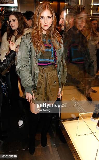 Chiara Ferragni attends the after party celebrating DIESEL's Madison Avenue flagship on February 13 2016 in New York City