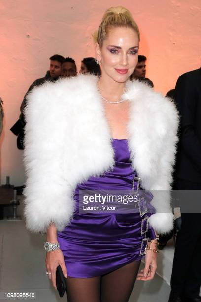 Chiara Ferragni attends the Alexandre Vauthier Haute Couture Spring Summer 2019 show as part of Paris Fashion Week on January 22 2019 in Paris France