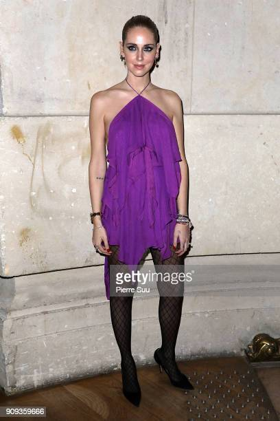 Chiara Ferragni attends the Alexandre Vauthier Haute Couture Spring Summer 2018 show as part of Paris Fashion Week on January 23, 2018 in Paris,...