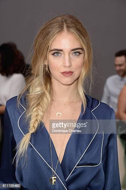 Chiara Ferragni attends the Chloe show as part of the Paris Fashion Week Womenswear Spring/Summer 2017 on September 29 2016 in Paris France