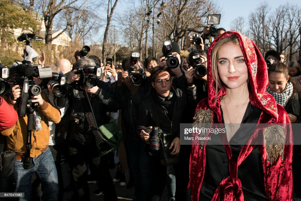Chiara Ferragni attends the Chloe show as part of the Paris Fashion Week Womenswear Fall/Winter 2017/2018 on March 2, 2017 in Paris, France.