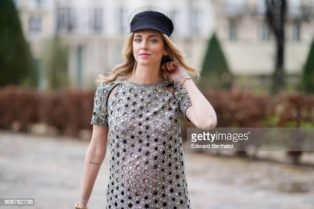 Chiara Ferragni attends the Christian Dior Haute Couture Spring Summer 2018 show as part of Paris Fashion Week on January 22, 2018 in Paris, France.