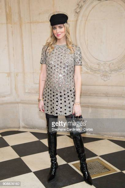 Chiara Ferragni attends the Christian Dior Haute Couture Spring Summer 2018 show as part of Paris Fashion Week January 22 2018 in Paris France