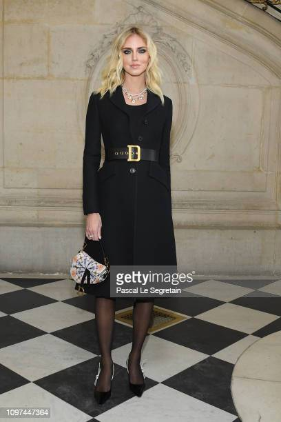 Chiara Ferragni attends the Christian Dior Haute Couture Spring Summer 2019 show as part of Paris Fashion Week on January 21 2019 in Paris France