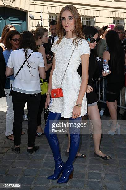 Chiara Ferragni attends the Christian Dior show as part of Paris Fashion Week Haute Couture Fall/Winter 2015/2016 on July 6 2015 in Paris France