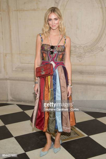 Chiara Ferragni attends the Christian Dior show as part of the Paris Fashion Week Womenswear Spring/Summer 2018 at on September 26 2017 in Paris...
