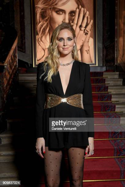 Chiara Ferragni attends the Cocktail Dinner for the new Pomellato campaign launch with Chiara Ferragni as part of Paris Fashion Week during...
