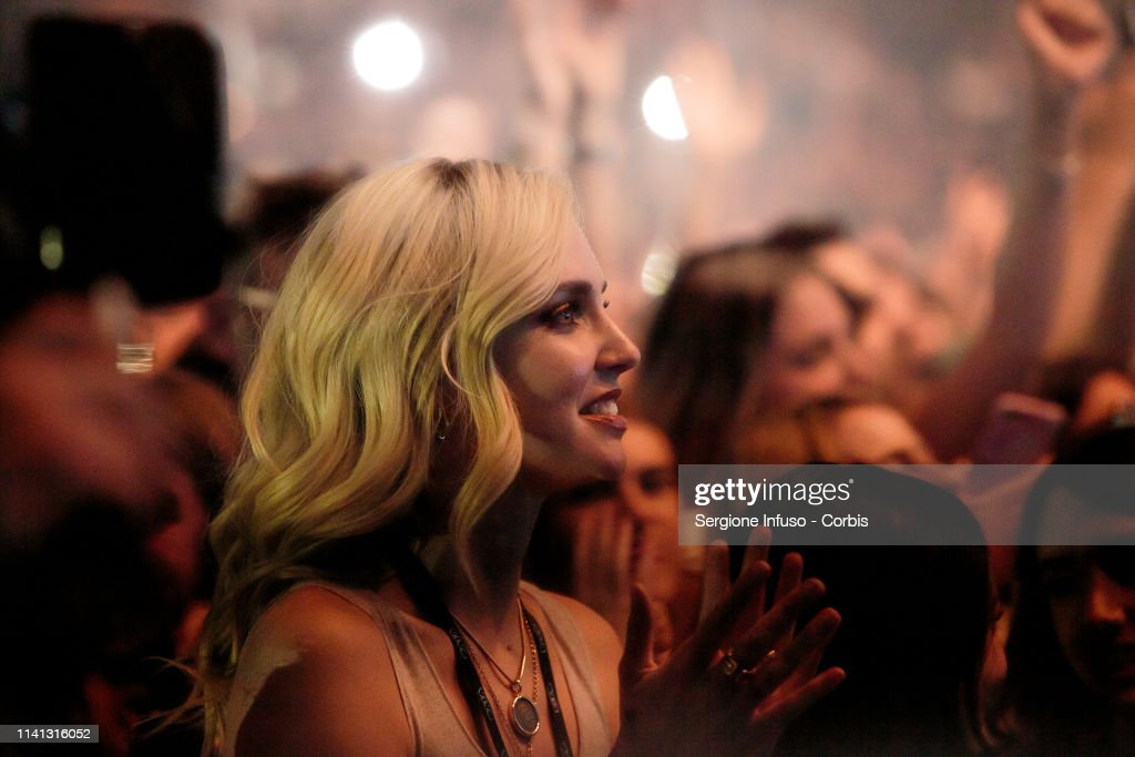 Chiara Ferragni attends the concert of Fedez at Mediolanum