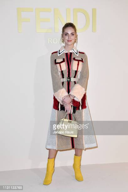 Chiara Ferragni attends the Fendi show at Milan Fashion Week Autumn/Winter 2019/20 on February 21 2019 in Milan Italy