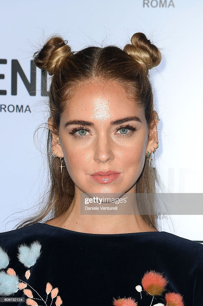Chiara Ferragni attends the Fendi show during Milan Fashion Week Spring/Summer 2017 on September 22, 2016 in Milan, Italy.