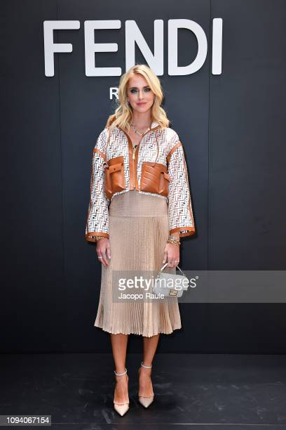 Chiara Ferragni attends the Fendi show during Milan Menswear Fashion Week Autumn/Winter 2019/20 on January 14 2019 in Milan Italy
