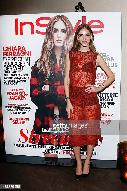 Chiara Ferragni attends the Instyle Cocktail on January 20 2015 in Berlin Germany
