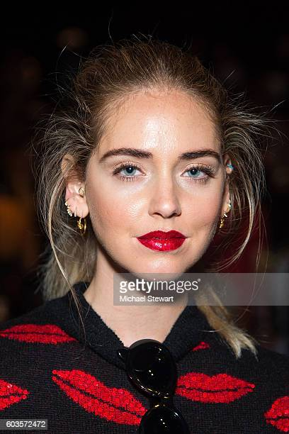 Chiara Ferragni attends the Jeremy Scott fashion show during September 2016 New York Fashion Week: The Shows at The Arc, Skylight at Moynihan Station...