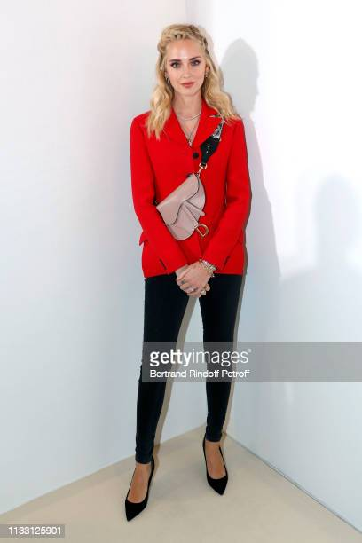 Chiara Ferragni attends the LVMH Prize 2019 Edition at Louis Vuitton Avenue Montaigne Store on March 01 2019 in Paris France
