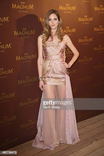 Chiara Ferragni attends the Magnum 25th Anniversary party during the 67th Annual Cannes Film Festival on May 21 2014 in Cannes France