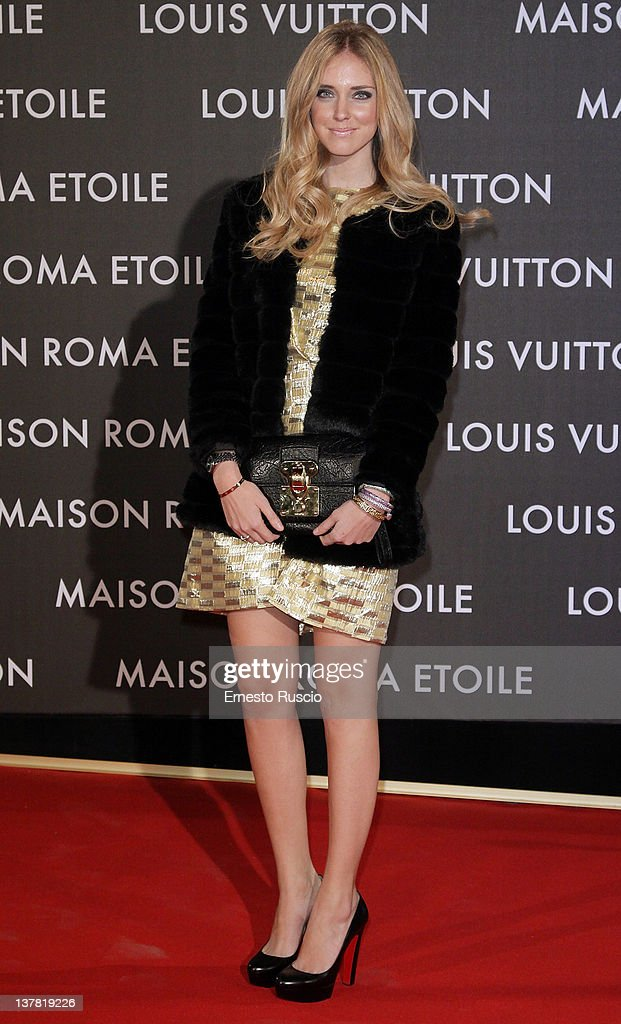Chiara Ferragni attends the 'Maison Louis Vuitton Roma Etoile' Opening Party at Ex Istituto Geologico on January 27, 2012 in Rome, Italy.