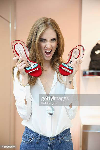 Chiara Ferragni attends the opening of the first PopUp Store at AproposShop In Cologne on July 10 2015 in Cologne Germany