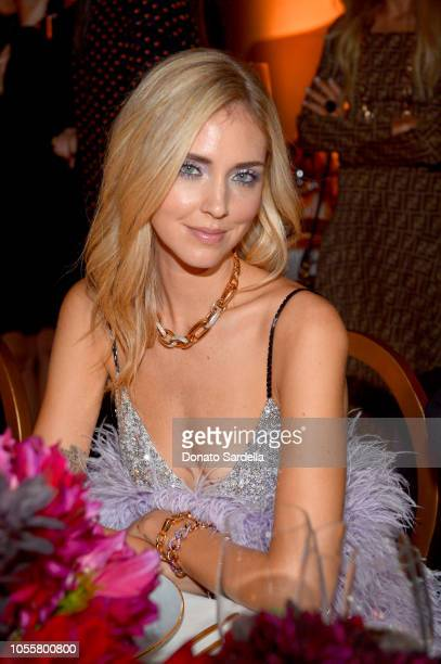 Chiara Ferragni attends the Pomellato store opening with Chiara Ferragni at Christie's on October 16 2018 in Beverly Hills California