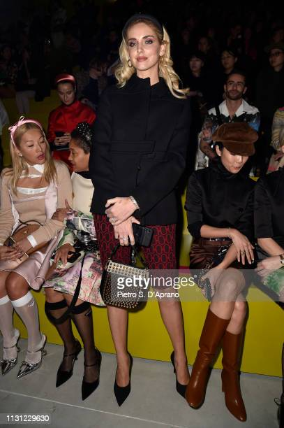 Chiara Ferragni attends the Prada Show during Milan Fashion Week Fall/Winter 2019/20 on February 21 2019 in Milan Italy
