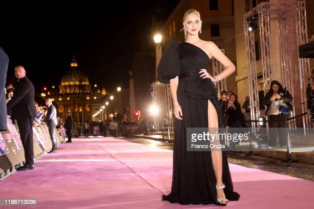 Chiara Ferragni attends the premiere of the movie Chiara Ferragni Unposted at the Auditorium della Conciliazione on November 19 2019 in Rome Italy