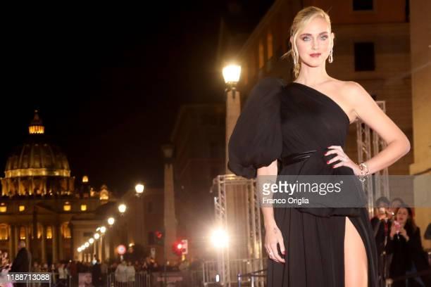 Chiara Ferragni attends the premiere of the movie Chiara Ferragni Unposted at the Auditorium della Conciliazione on November 19 2019 in Rome Italy