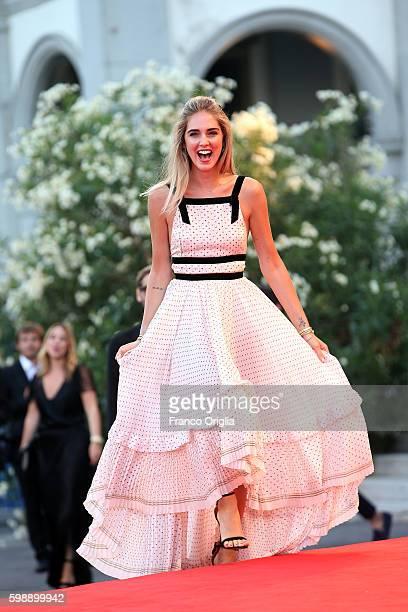 Chiara Ferragni attends the premiere of 'The Young Pope' during the 73rd Venice Film Festival at Palazzo del Casino on September 3, 2016 in Venice,...