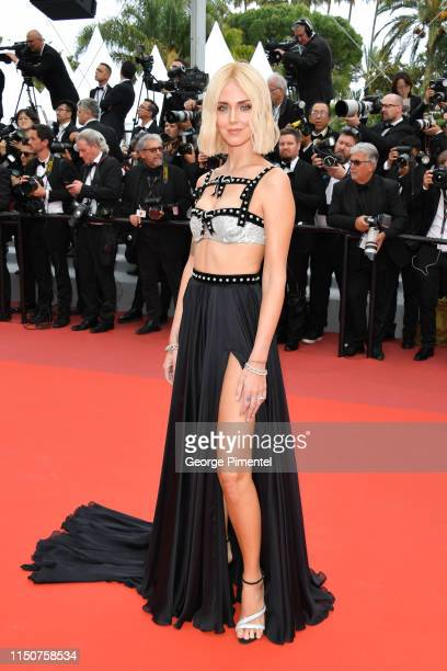 """Chiara Ferragni attends the screening of """"Once Upon A Time In Hollywood"""" during the 72nd annual Cannes Film Festival on May 21, 2019 in Cannes,..."""
