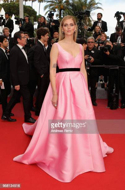 Chiara Ferragni attends the screening of Sink Or Swim during the 71st annual Cannes Film Festival at Palais des Festivals on May 13 2018 in Cannes...