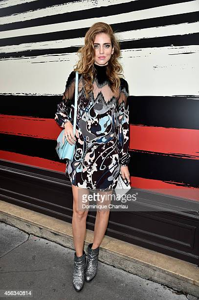 Chiara Ferragni attends the Sonia Rykiel show as part of the Paris Fashion Week Womenswear Spring/Summer 2015 on September 29 2014 in Paris France