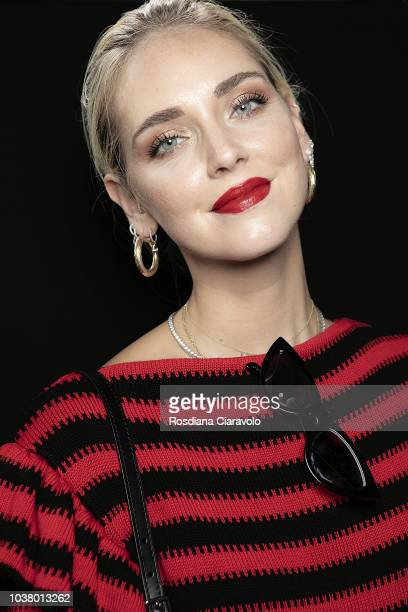 Chiara Ferragni is seen backstage ahead of the Philosophy Di Lorenzo Serafini show during Milan Fashion Week Spring/Summer 2019 on September 21 2018...
