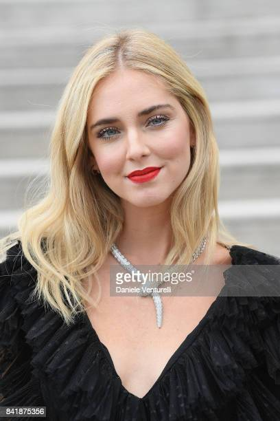 Chiara Ferragni is seen during the 74th Venice Film Festival on September 2 2017 in Venice Italy