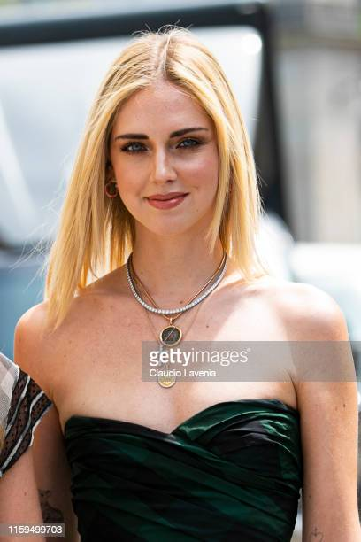 Chiara Ferragni is seen outside Dior show during Paris Fashion Week - Haute Couture Fall Winter 2019 - 2020 on July 01, 2019 in Paris, France.