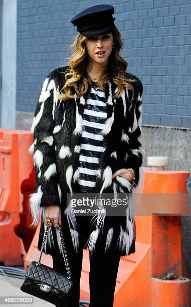 Chiara Ferragni is seen outside the Diane Von Furstenberg show on February 9, 2014 in New York City.