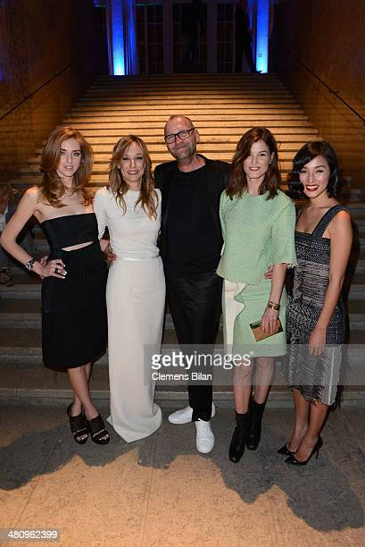 Chiara Ferragni Laura Burdese Ulrich Grimm Hanneli Mustaparta and Nicole Warne attend the Calvin Klein Watches Jewelery Private Dinner as part of...