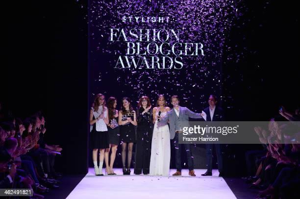 Chiara Ferragni Negin Mirsalehi Aida Domenech Louise Ebel Fadela Mercheri Raul Richter and Benjamin Guenther attend the Stylight Fashion Blogger...