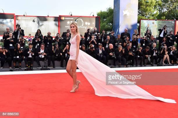 Chiara Ferragni walks the red carpet ahead of the 'Suburbicon' screening during the 74th Venice Film Festival at Sala Grande on September 2 2017 in...