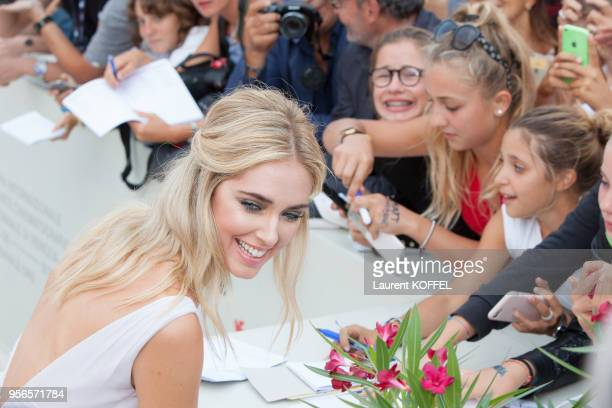 Chiara Ferragni walks the red carpet ahead of the 'Suburbicon' screening during the 74th Venice Film Festival at Sala Grande on September 2 2017 in...