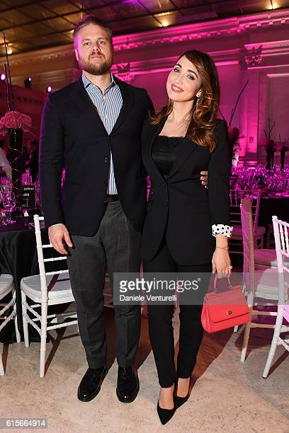 Chiara Francini and Frederick Lundqvist attend the Telethon Gala during the 11th Rome Film Fest on October 19 2016 in Rome Italy