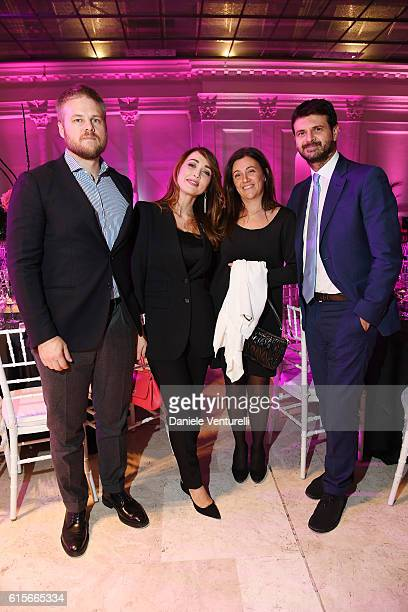 Chiara Francini Frederick Lundqvist and guests attend the Telethon Gala during the 11th Rome Film Fest on October 19 2016 in Rome Italy